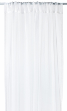 "White Light 1 Piece Solid Color Sheer Window Treatment Curtain Panel with Rod Pocket - 54"" X 84"""
