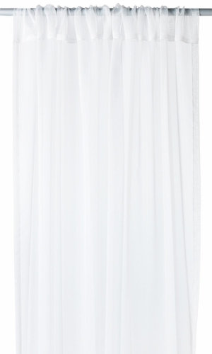 """White Light 1 Piece Solid Color Sheer Window Treatment Curtain Panel with Rod Pocket - 54"""" X 84"""""""