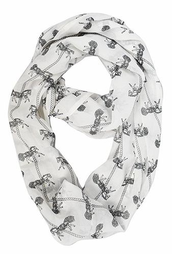 Horse Infinity Loop Scarf - Makes an Excellent Gift