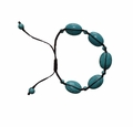 Jewelry Trendy Adjustable Waxed Thread Turquoise Stone Bracelet