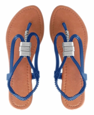 Blue Womens Thong Sandals