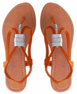 Orange Womens Thong Sandals
