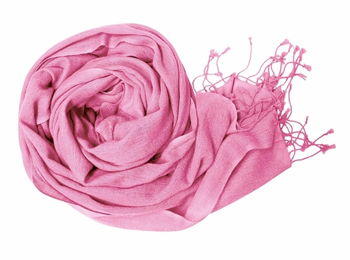 Light and Soft Touch Pure Pashmina Wool Shawls Wraps - Baby Pink
