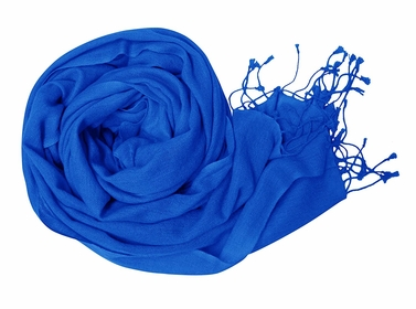 Blue Soft Touch Pure Pashmina Wool Shawls Wraps