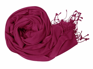 Fuchsia Soft Touch Pure Pashmina Wool Shawls Wraps