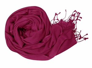 Light and Soft Touch Pure Pashmina Wool Shawls Wraps - Fuchsia