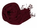 Maroon Soft Touch Pure Pashmina Wool Shawls Wraps