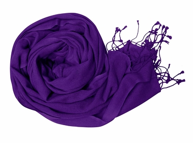 Purple Soft Touch Pure Pashmina Wool Shawls Wraps