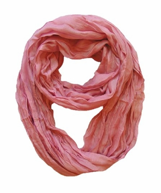 Dusty Rose Crinkled Infinity Scarf