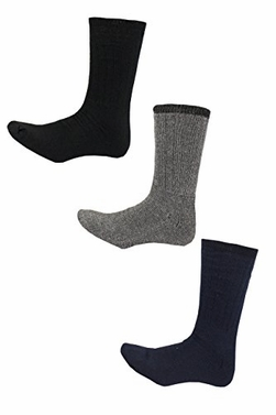 Living Socks Extreme Weather Wool Blend 3 Pack Men's Socks - Shoe Size 6-12 (6 Pack Black,Grey,Navy)