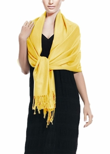 Yellow Pashmina Wedding Shawl