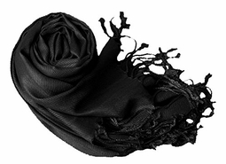 Black Eco-friendly Pashmina Shawl
