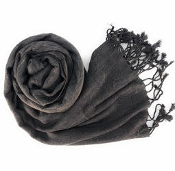Stone Black Eco-friendly Pashmina Shawl