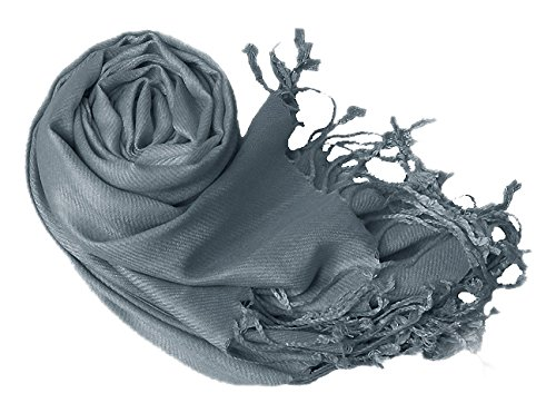 Luxurious Eco-friendly Pashmina Shawl (Dark Grey)