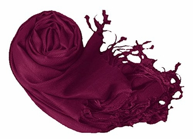 Eggplant Eco-friendly Pashmina Shawl