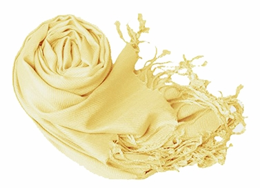 Light Yellow Eco-friendly Pashmina Shawl