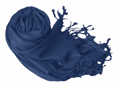Midnight Blue Eco-friendly Pashmina Shawl