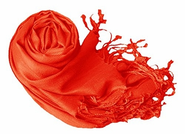 Orange Eco-friendly Pashmina Shawl