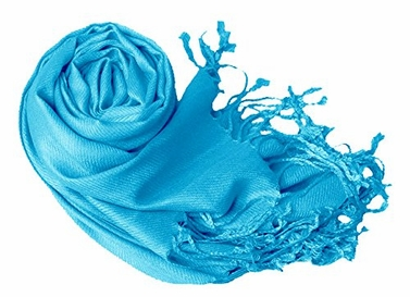 Turquoise Eco-friendly Pashmina Shawl