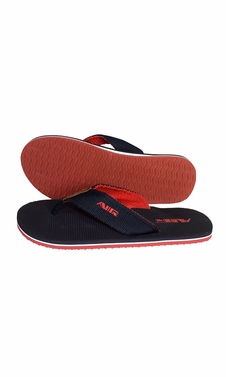 Black Red Mens Flip Flop Synthetic Suede Stappy Beach Flats Sandals