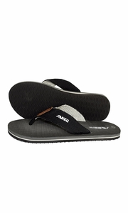 Charcoal Grey Mens Flip Flop Synthetic Suede Stappy Beach Flats Sandals