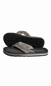 Mens Flip Flop Synthetic Suede Stappy Beach Flats Sandals Ebony