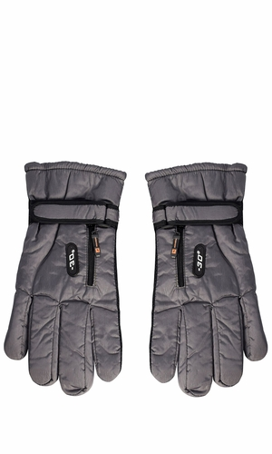 Grey Mens Weatherproof Insulated Waterproof Winter Snow Ski Gloves 78