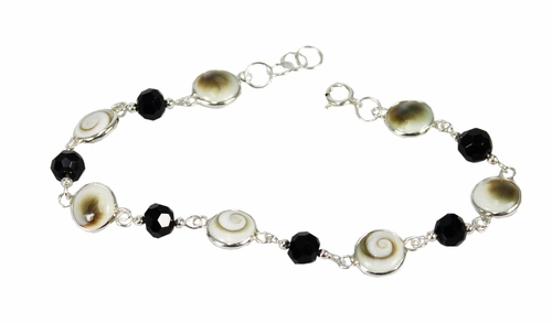 Mother of Pearl and Bead Bracelet