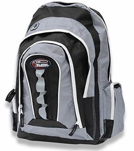Multi-Purpose Back to School Extra Storage Technology Sport Backpack-Urban Gear (Black/Silver)