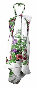 Multi Purpose Hawaiian Scarves Pareo Beach Wraps Sarongs Hawaiian Floral