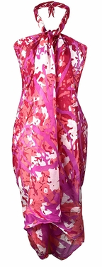 Multi Purpose Hawaiian Scarves Pareo Beach Wraps Sarongs Red Coral