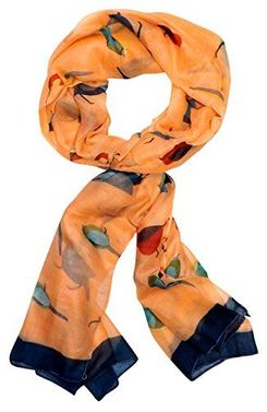 Multicolor Summer Bird Print Scarf