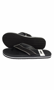 Nautical Summer Men's Beach Summer Flip-Flops Sandals Slippers Black
