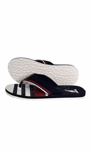 Nautical Summer Men's Beach Summer Flip-Flops Sandals Slippers Navy Red