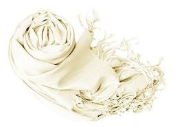 Off white Pashmina Shawl Wrap Scarf