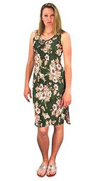 Olive Floral Print Sleeveless Pleat Fabric Bodycon Dress