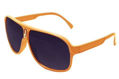Orange Over-sized Aviator Style Sunglasses with Colorful Frame