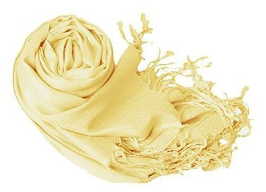 Light Yellow Pashmina Shawl Wrap Scarf