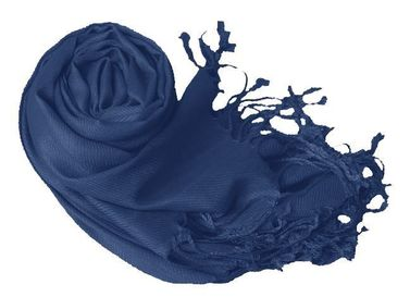Midnight Blue Pashmina Shawl Wrap Scarf