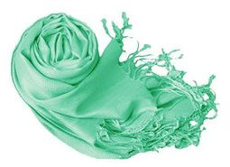 Mint Green Pashmina Shawl Wrap Scarf