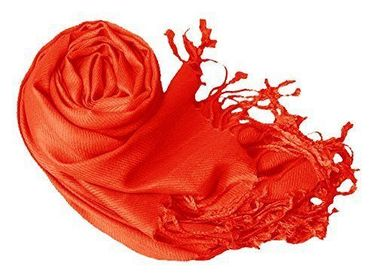 Orange Pashmina Shawl Wrap Scarf