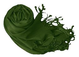 Forest Green Wedding Pashmina Shawl Wrap
