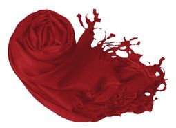 Red Pashmina Shawl Wrap Scarf