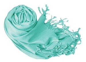 Surf Blue Pashmina Shawl Wrap