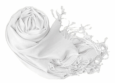 White Eco-friendly Pashmina Shawl