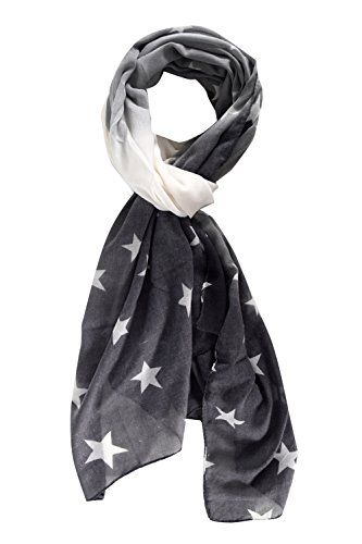 Grey Light Weight Faded Color Print Vibrant Patriotic Scarf