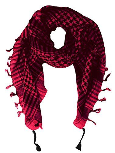 100% Cotton Unisex Tactical Military Shemagh Keffiyeh Scarf Wrap