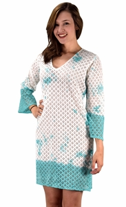 Peach Couture 100% Cotton Womens Crochet Lace Tunics Summer Cover Ups Beach Wear Teal