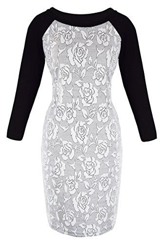 Peach Couture 3/4 Sleeves Chic Printed Work Business Party Sheath Slimming Dress Floral XL