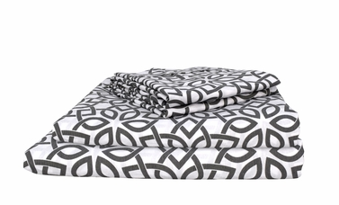 Floral 400 Thread Count Printed Intricate King Sheet Set